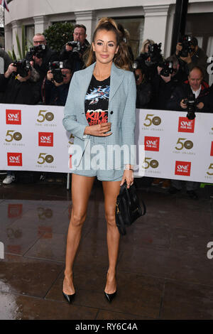 London, UK. 12th Mar, 2019. LONDON, UK. March 12, 2019: Olivia Atwood arriving for the TRIC Awards 2019 at the Grosvenor House Hotel, London. Picture: Steve Vas/Featureflash Credit: Paul Smith/Alamy Live News - Stock Image