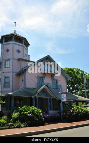 The Oak Bluffs Inn in Oak Bluffs, Martha's Vineyard, Massachusetts, USA - Stock Image