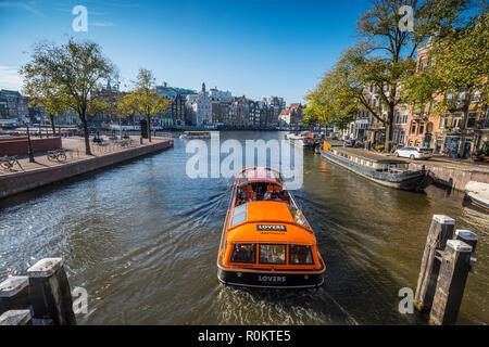 Amsterdam canal cruise - Stock Image