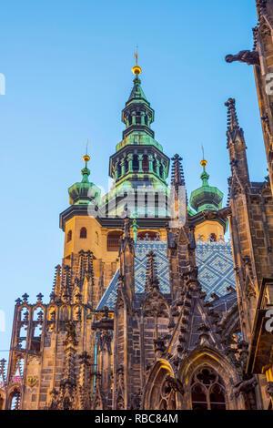 Czech Republic, Prague, Mala Strana, Prague Castle, St. Vitus Cathedral - Stock Image