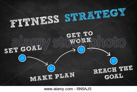 Fitness strategy tips - Stock Image