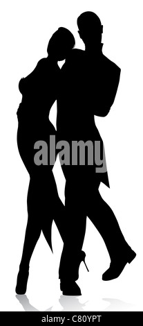 dancers silhouette - Stock Image