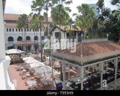 raffles hotel garden bar,  singapore - Stock Image