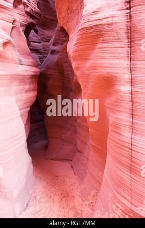 entrance into a slot canyon in Page Arizona known as Antelope Canyon X - Stock Image