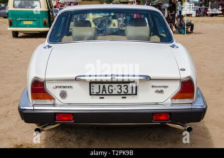 1985 Jaguar XJ6 Series 3, 4.2 litre Sovereign. On display at Moonbi near Tamworth Australia. - Stock Image