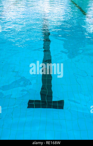 Swimming line in a swimming pool. - Stock Image