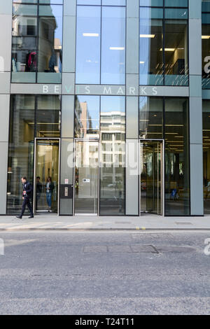 Entrance to Fletcher Priest 's 6 Bevis Marks, City of London, EC3, UK - Stock Image