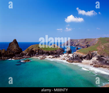 Kynance Cove Cornwall England UK - Stock Image