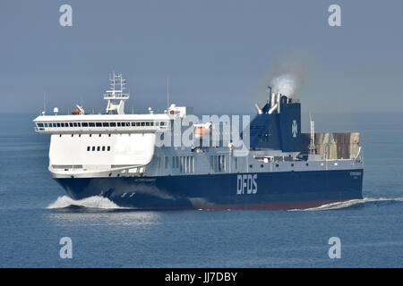 Victoria Seaways heading for Kiel - Stock Image