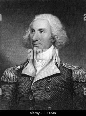 Philip Schuyler (1733-1804) on engraving from 1835. American general. - Stock Image
