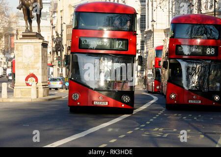 London busses, London, United Kingdom. - Stock Image
