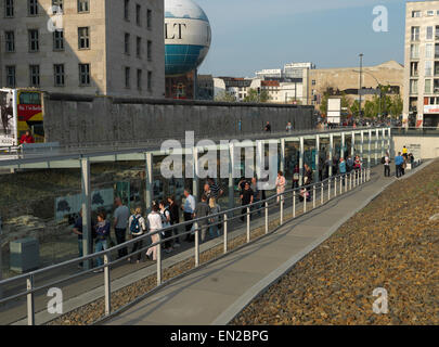 Topography of Terror Documentation Center in the evening. High resolution digital Hasselblad shot. - Stock Image