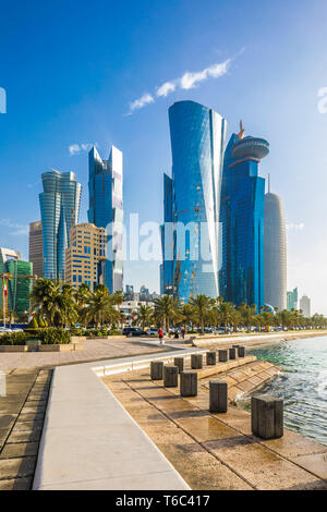 West Bay skyline, Doha, Qatar - Stock Image
