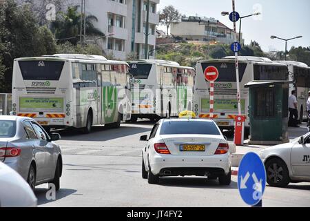 buses in israel - Stock Image