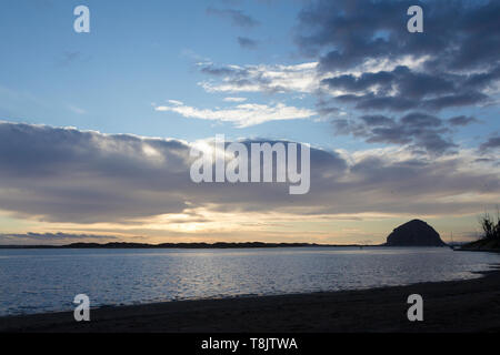 Morro Rock at Sunset - Stock Image