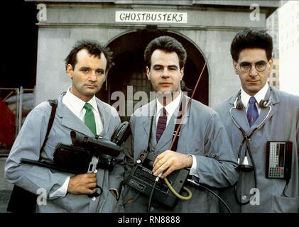 GHOSTBUSTERS, BILL MURRAY, DAN AYKROYD, HAROLD RAMIS, 1984 - Stock Image
