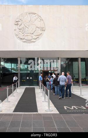 Museo Nacional de Antropologia - Anthropology Museum Mexico City - Stock Image