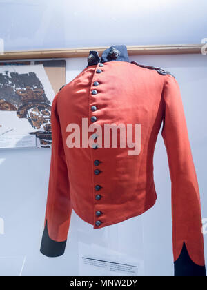 Red Coat: British Militia officer's shell jacket c.1840: Typical uniform of the British during the rebellion of 1838 this red serge jacket made them very visible. - Stock Image