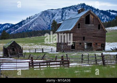 old barn  still standing - Stock Image
