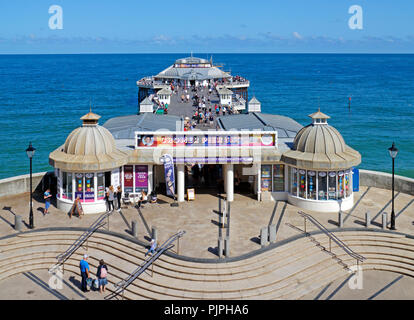 A view of the Pier on the North Norfolk coast at the seaside resort of Cromer, Norfolk, England, United Kingdom, Europe. - Stock Image