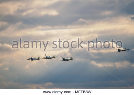 Duxford Battle of Britain 75th anniversary airshow on 20 September 2015 - Stock Image