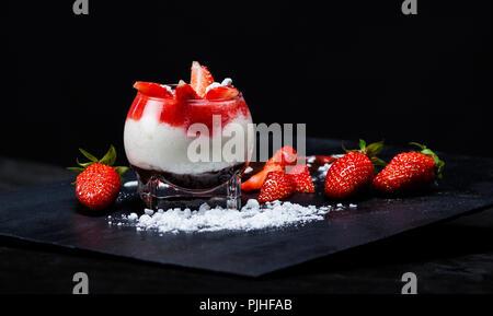 Montefino: Strawberry Yogurt - Stock Image