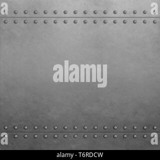 Metal steel armor plates background or texture - Stock Image