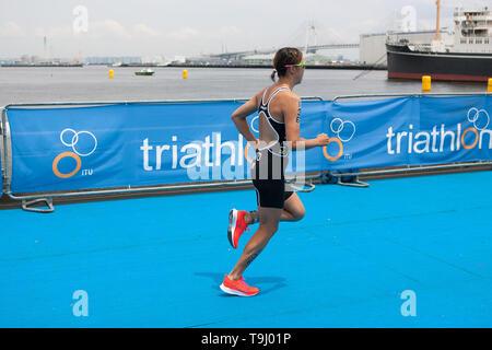 Yokohama, Japan. 18th May, 2019. 2019 ITU World Triathlon, World Paratriathlon Yokohama at Yamashita Park and Minato Mirai, Yokohama. Sato (Photos by Michael Steinebach/AFLO) Credit: Aflo Co. Ltd./Alamy Live News - Stock Image