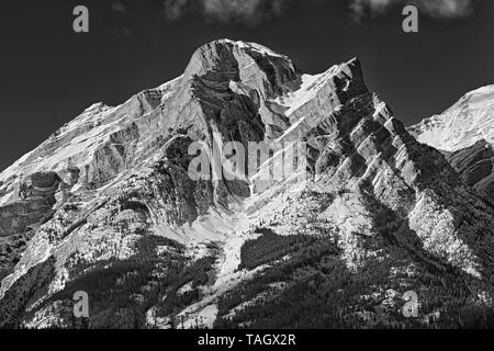 Canadian Rockies in winter. Mt. Kidd, Kananaskis Country, Alberta, Canada Kananaskis Country Alberta Canada - Stock Image