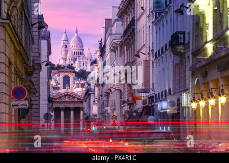Sacre-Coeur Basilica in Paris, France - Stock Image