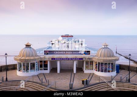 View of Cromer pier. - Stock Image