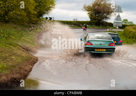 Rain in North Yorkshire - Stock Image