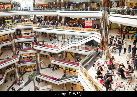 Cevahir Istanbul shopping mall in Istanbul Turkey - Stock Image