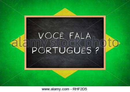 Do you speak Portuguese - Brazil flag concept - Stock Image