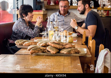 Foie gras entier, whole goose liver, prepared at Le Louchebem restaurant, Marché Victor Hugo, Toulouse, Occitanie, - Stock Image
