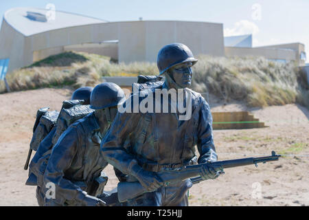 Utah Beach, Normandy, France, March 26, 2019, Higgins Memorial located at Utah Beach where the landings took place on D-Day 1944 - Stock Image