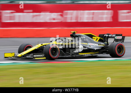 Silverstone Circuit. Northampton, UK. 13th July, 2019. FIA Formula 1 Grand Prix of Britain, Qualification Day; Nico Hulkenberg driving his Renault F1 Team RS19 Credit: Action Plus Sports/Alamy Live News - Stock Image