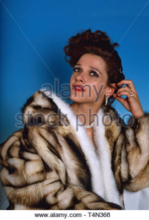 Susanne Schwab, deutsche Schauspielerin und Fernsehmoderatorin, Deutschland 1992. German actress and TV presenter Susanne Schwab, Germany 1992. - Stock Image