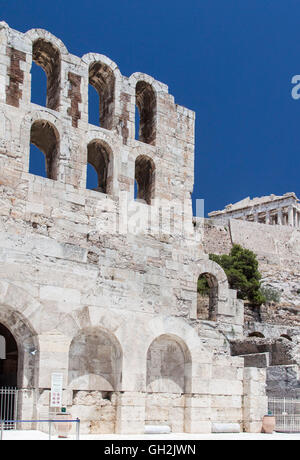 Odeon of Herodes Atticus Athens Greece - Stock Image