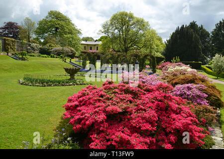 Victorian Gardens in Devon, UK - Stock Image