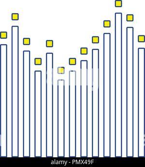 Graphic equalizer icon. Thin line design. Vector illustration. - Stock Image