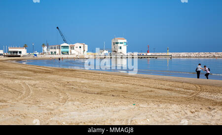 Rodi Garganico (Puglia, Italy) - The beach in spring time - Stock Image