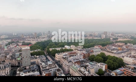 European Capital City London Central Skyline around St James's Park and Green Park in Westminster England UK - Stock Image