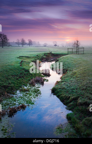 Dawn at Wistow in Leicestershire. - Stock Image
