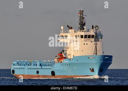 Offshore supply vessel Blue Bella - Stock Image