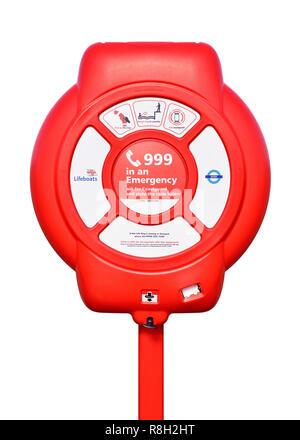 Lifebuoy Ring Life Belt, Cut Out - Stock Image