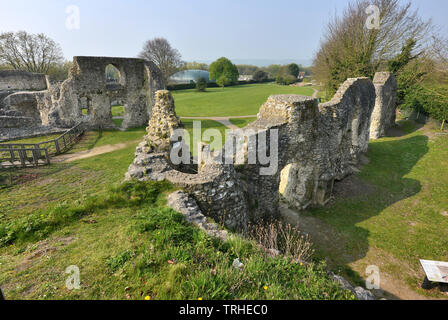Lewes Cluniac Priory ruins, East Sussex, UK - Stock Image