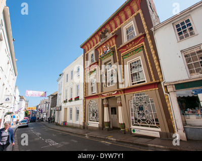 Chapel street in Penzance Cornwall Britain - Stock Image