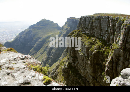 A View of Table Mountain, Cape Town, Western Cape, South Africa. - Stock Image
