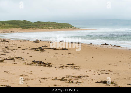 Westport or West Port Beach, Machrihanish Bay, Kintyre, Argyll, Scotland, UK - Stock Image